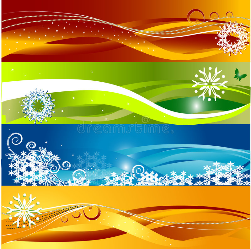 Free Baner Floral Background Stock Photography - 3988742