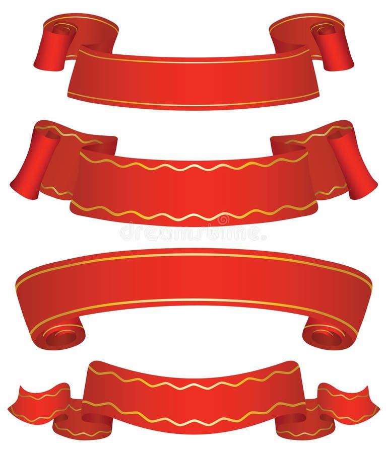 baner fyra variants vektor illustrationer