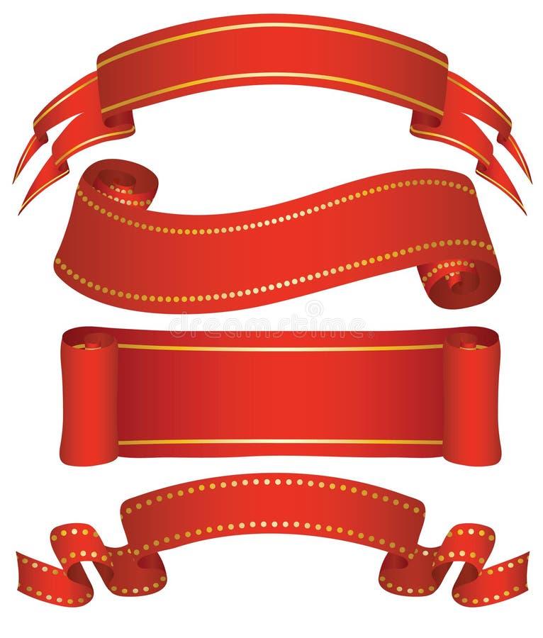 baner fyra variants royaltyfri illustrationer