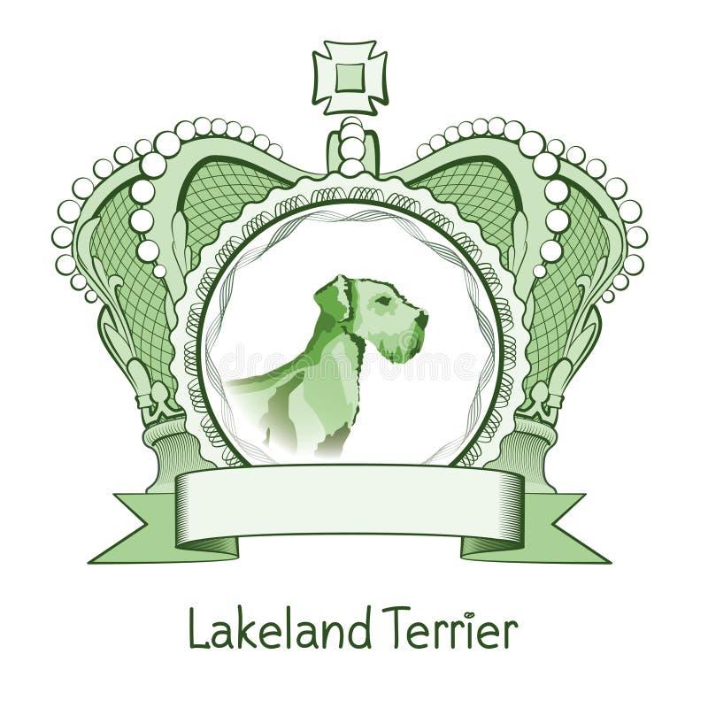 Baner Lakeland Terrier royaltyfri fotografi