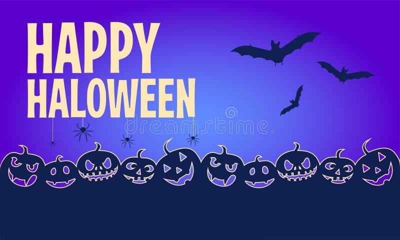 baner lyckliga halloween Lägenheten planlade bakgrund också vektor för coreldrawillustration stock illustrationer