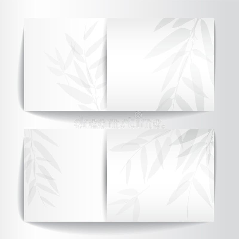Baner med bambuträd stock illustrationer