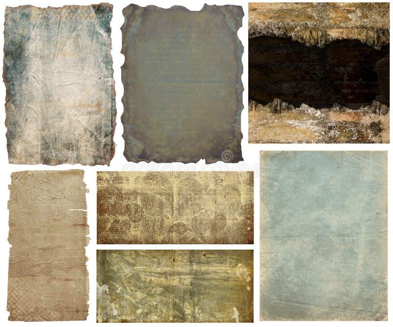 Baner och bakgrunder för samling pappers- royaltyfri illustrationer