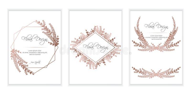 Baner p? blommabakgrund royaltyfri illustrationer
