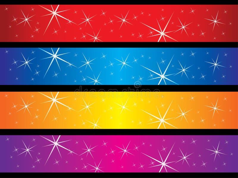 baner som sparkling royaltyfri illustrationer