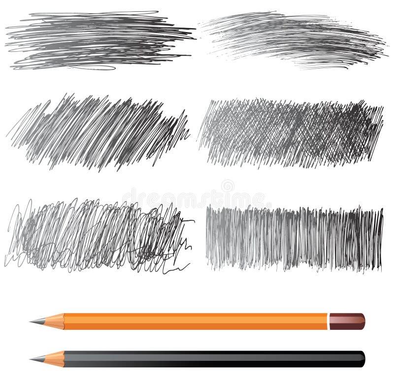 baner tecknad hand vektor illustrationer