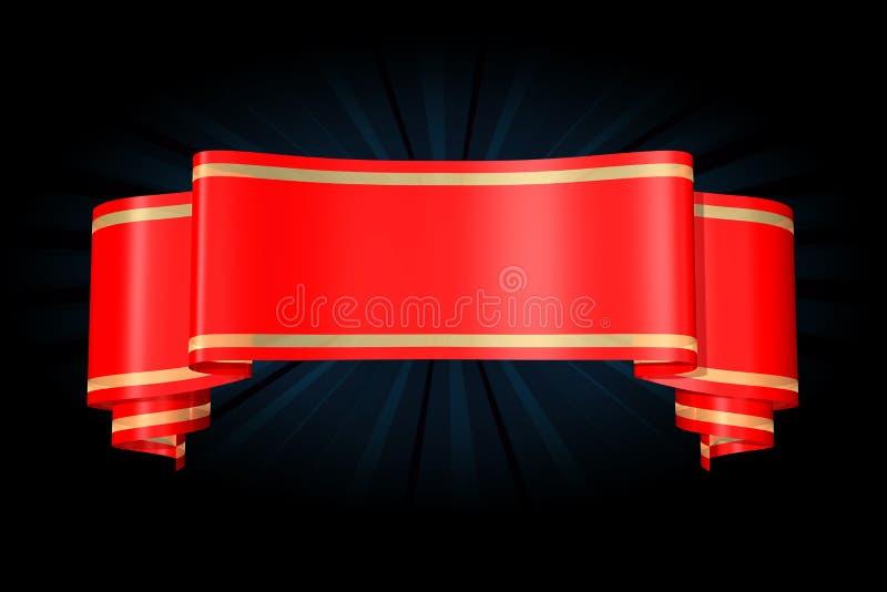 Baner vermelho ilustração stock