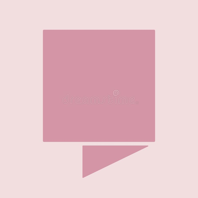 Baner vikt linje plan design med bakgrund royaltyfri illustrationer