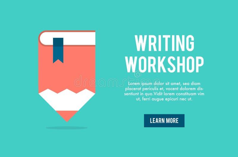 Banerbegrepp för att skriva seminariet vektor illustrationer