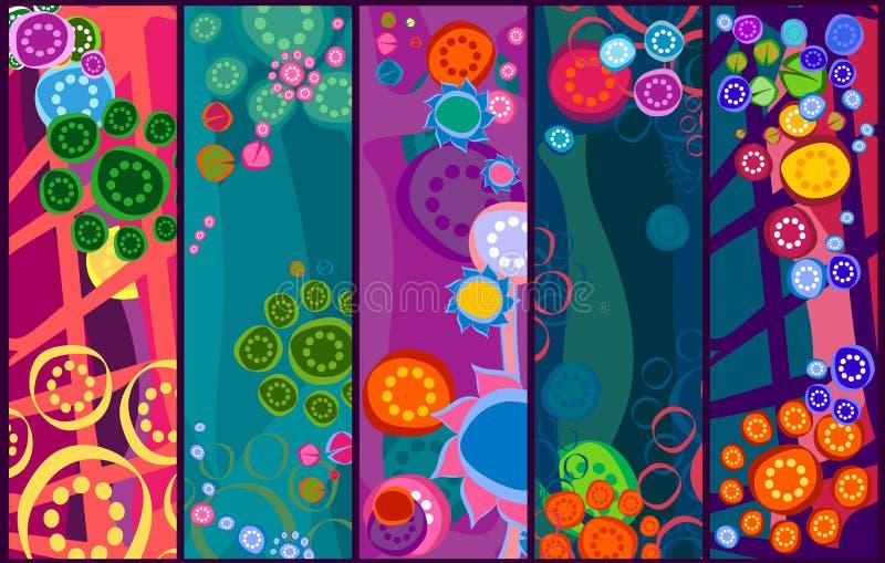 banerblommor vektor illustrationer