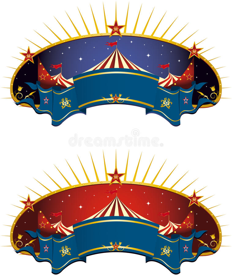 banercirkustent royaltyfria foton