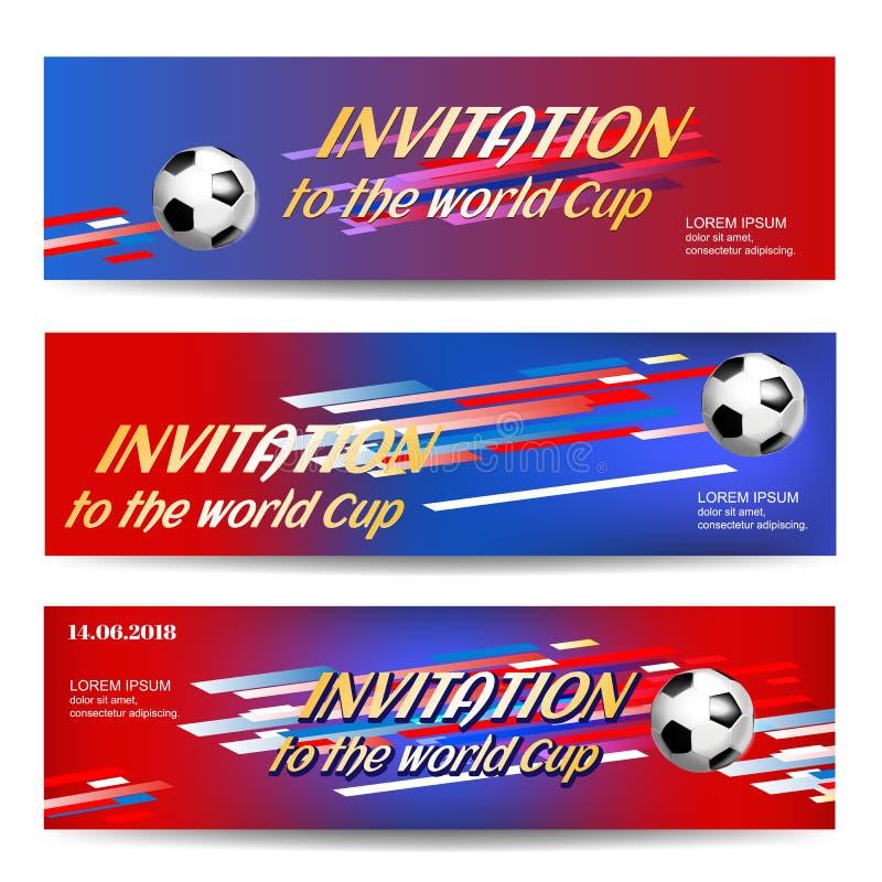 Banerdesignmall för sporthändelsen, sportfotboll vektor illustrationer