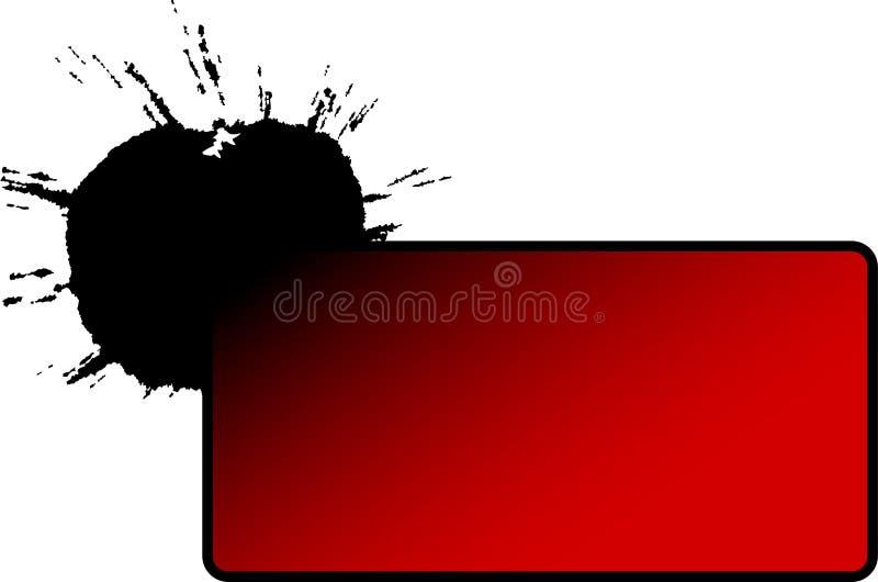 banerfärg över färgstänk vektor illustrationer