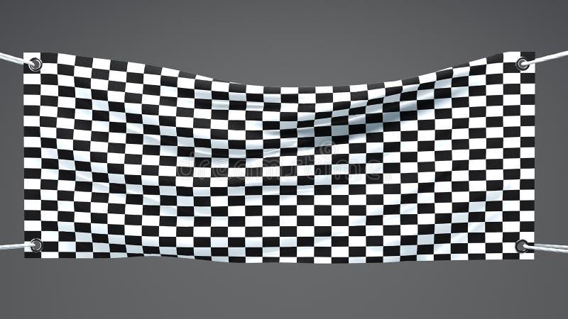 Banerflaggaankomst, fullföljande, royaltyfri illustrationer