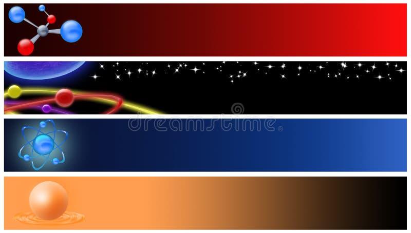 banerfysik stock illustrationer
