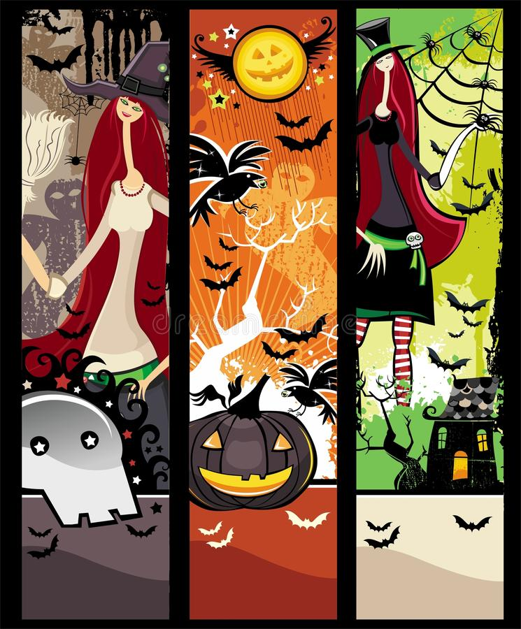 banergrunge halloween vektor illustrationer