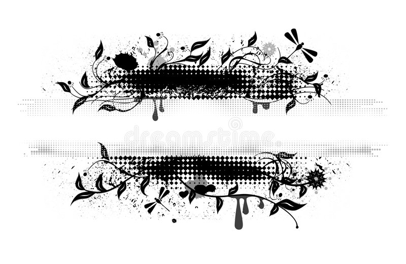banergrungevektor royaltyfri illustrationer