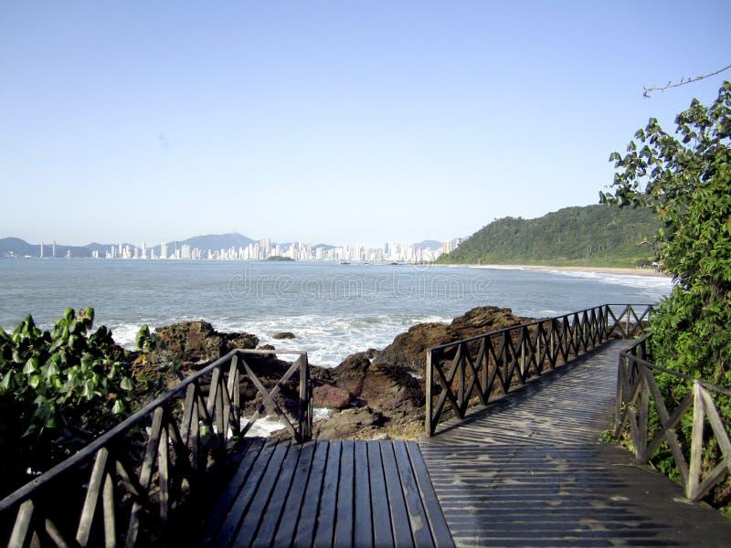 Banerio Camberiu Coastline, Brazil. Coastline of Banerio Camberiu in Brazil stock images