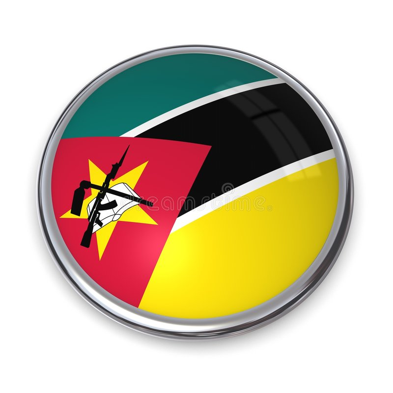 Banerknapp Mozambique Royaltyfri Fotografi