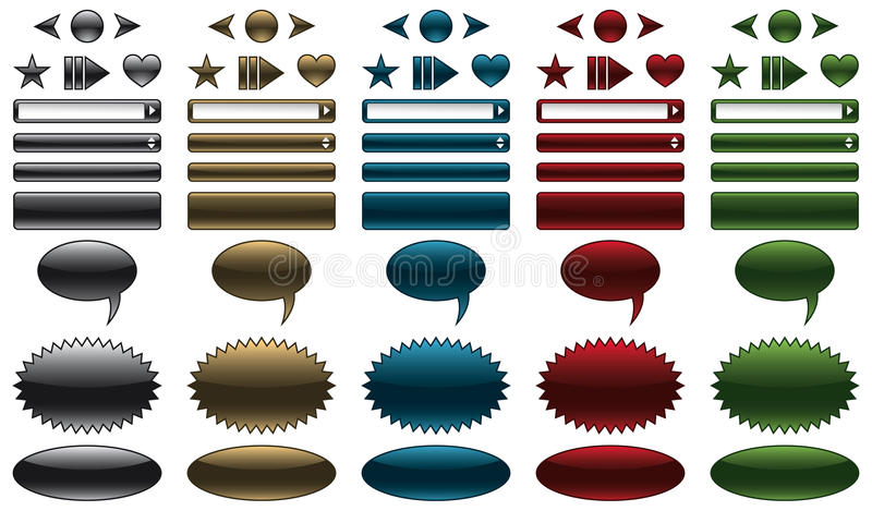 banerknappwebsite vektor illustrationer