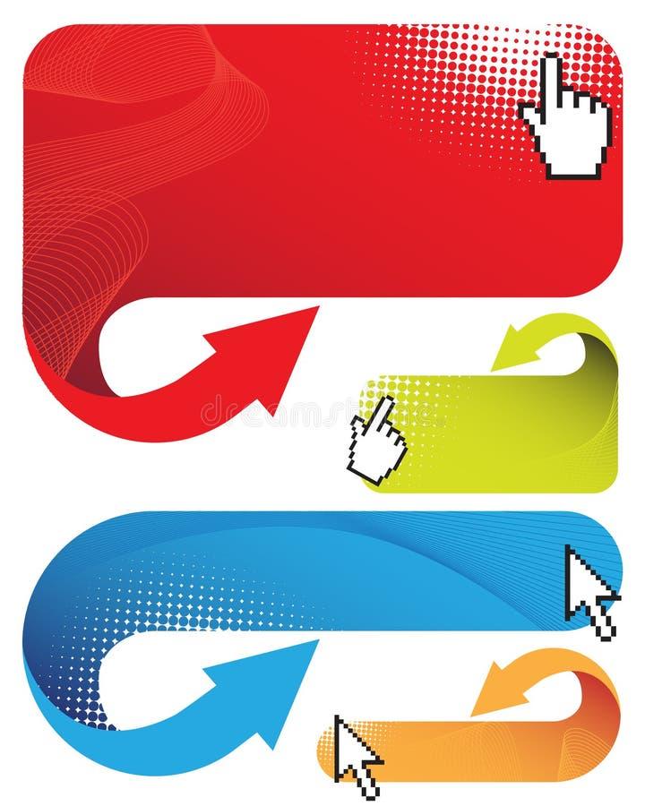 banermarkörer stock illustrationer