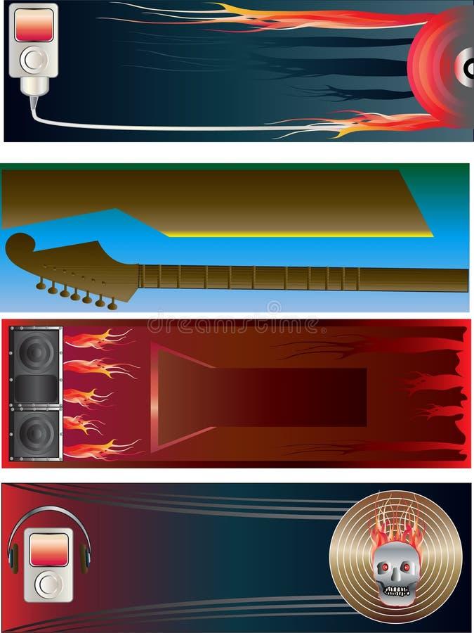 banernedladdningmusik stock illustrationer