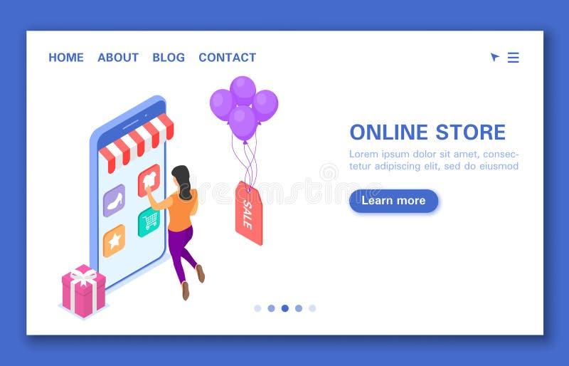 Baneronline-lager med ett tecken Lämpliga applikation, rabatter och försäljningar, bonusar och gåvor vektor illustrationer