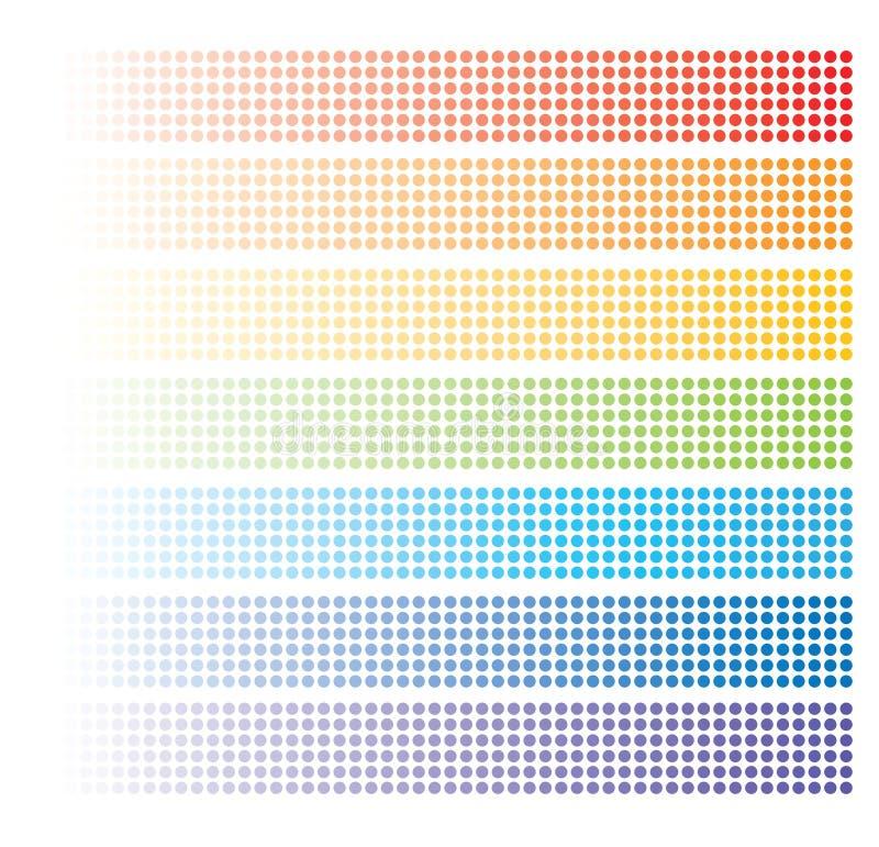 Baners astratti del Rainbow royalty illustrazione gratis