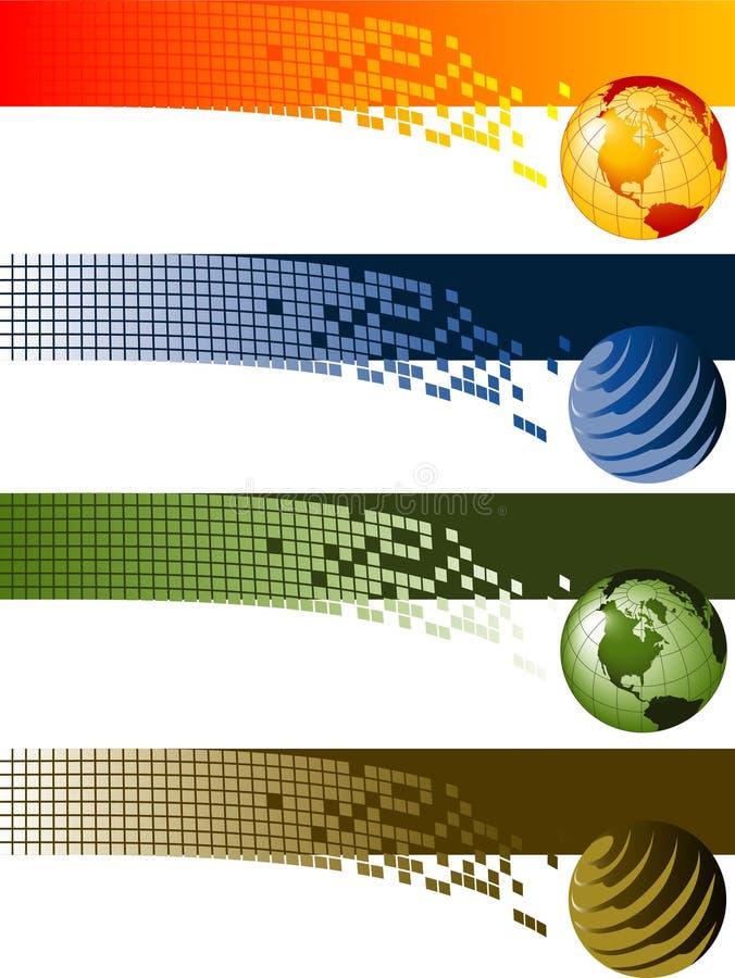 banersamling vektor illustrationer