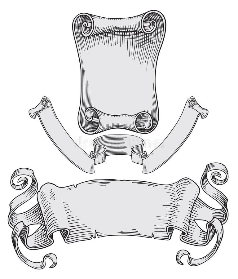 banerscroll vektor illustrationer