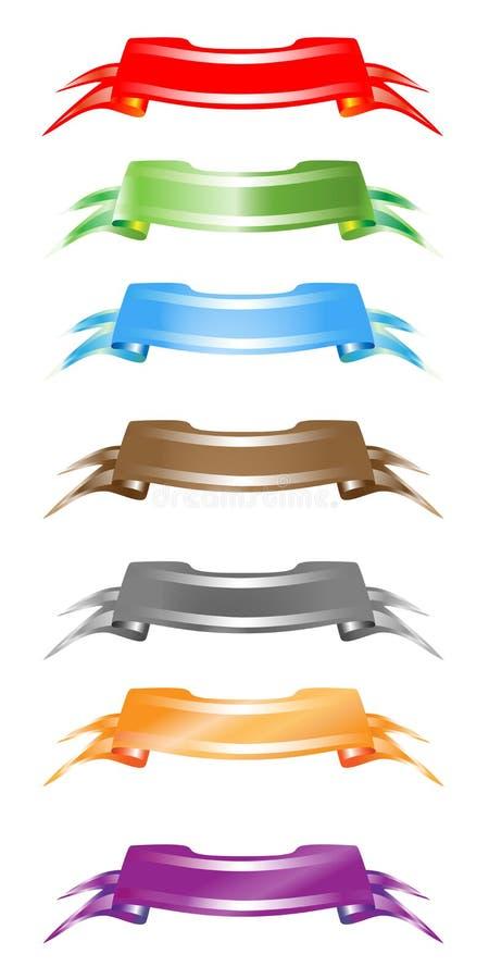 banerset vektor illustrationer