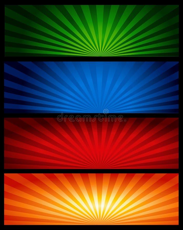 banertitelradrengöringsduk vektor illustrationer