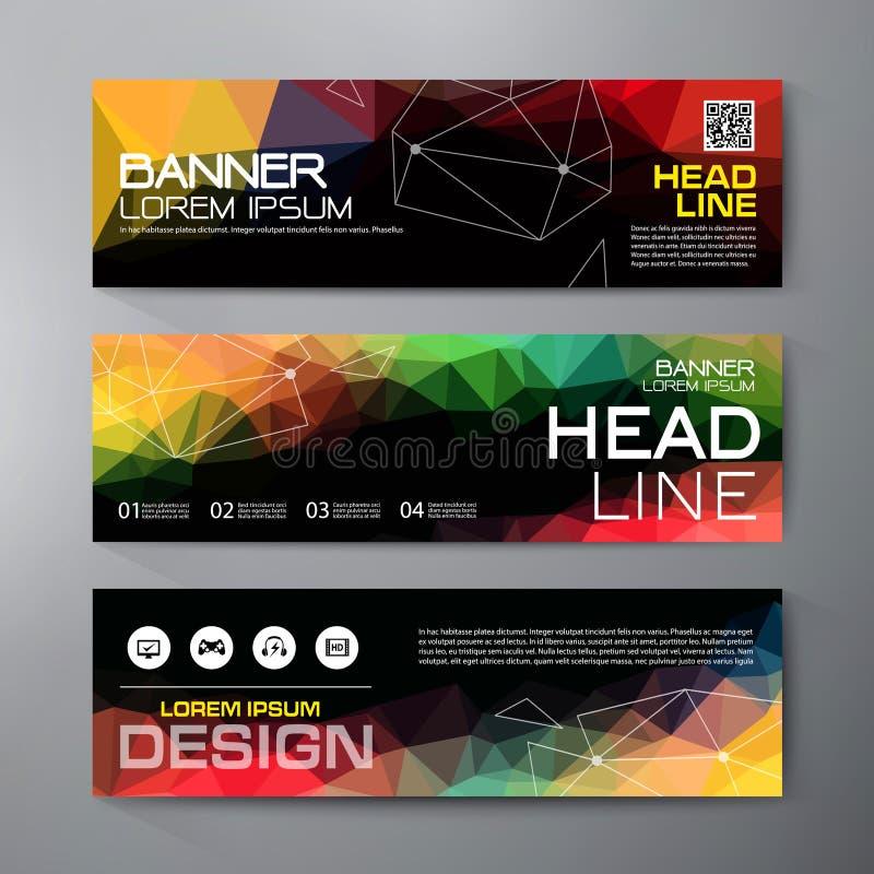 Baneruppsättning för modern design för affär royaltyfri illustrationer