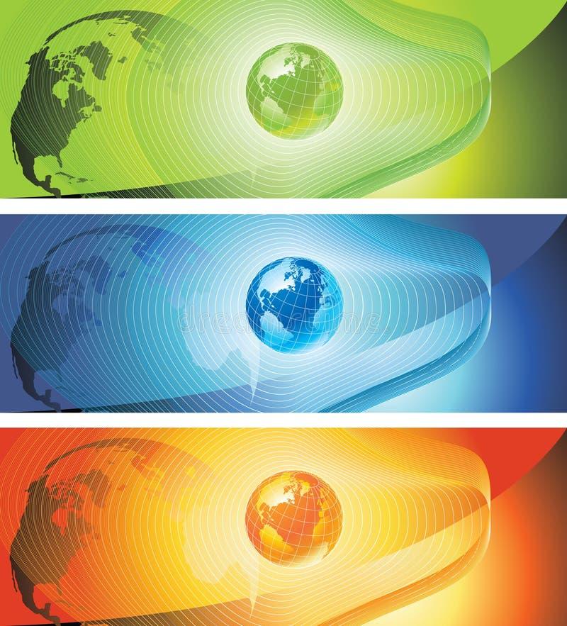 banervärld vektor illustrationer