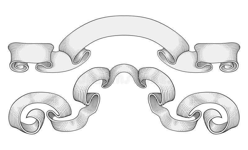 banervektor vektor illustrationer