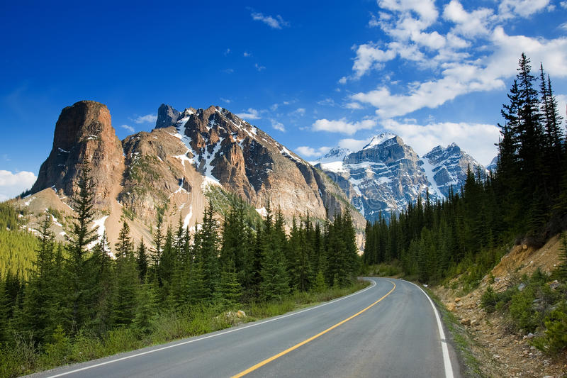 banff国家公园 免版税库存图片