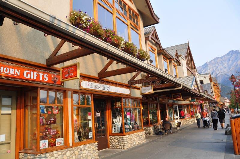 Banff大道 库存图片