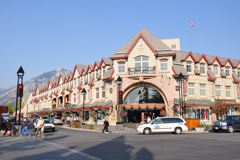 Banff大道 图库摄影