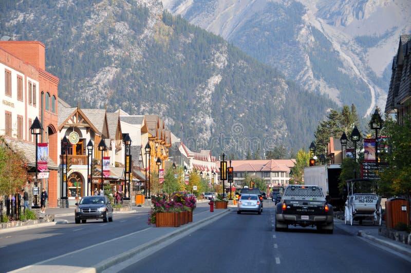 Banff大道 库存照片