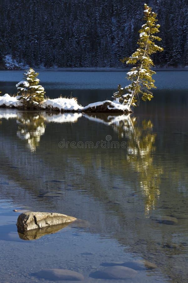 banff插孔湖二 库存图片