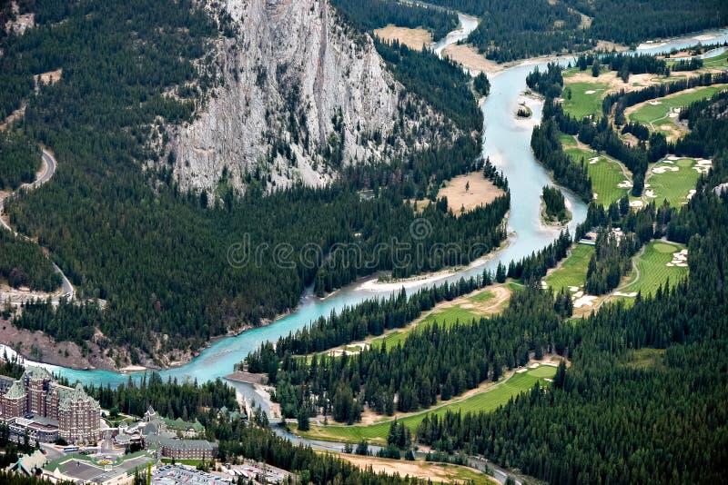 BANFF, ALBERTA/CANADA - 7. AUGUST: Das Fairmont Banff Springs Ho stockfotos