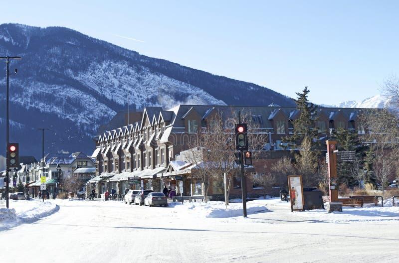 Banff, Alberta, Canada główna turystyczna ulica obraz stock