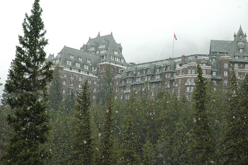 Banff, Alberta, Canada - Oct 27/2005: Banff Springs Hotel stock photography