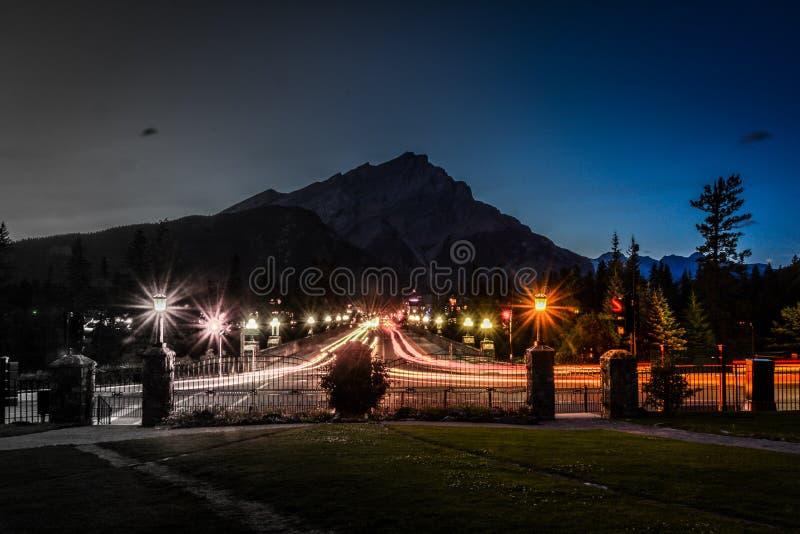 Banff ave royalty free stock photos
