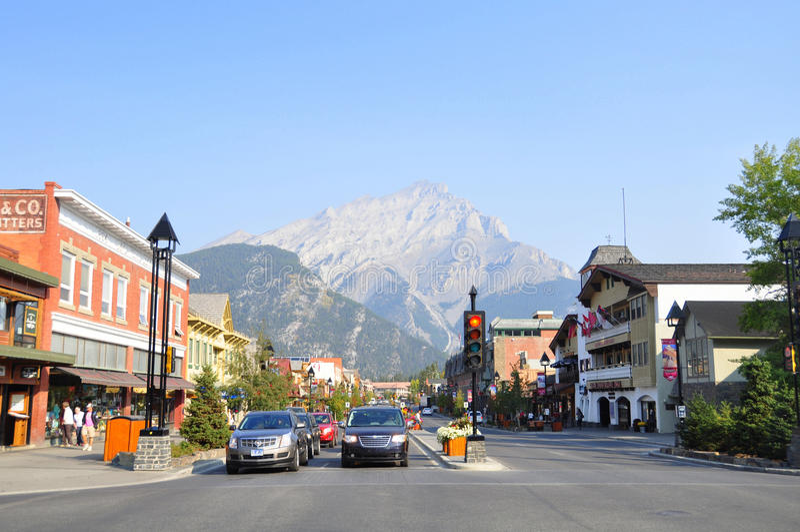 Banff Avenue Editorial Photography