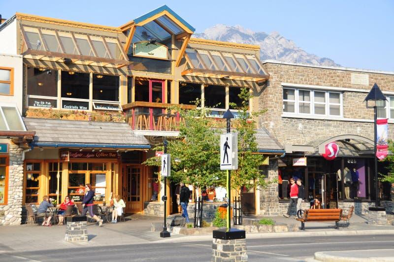 Banff aveny royaltyfria foton