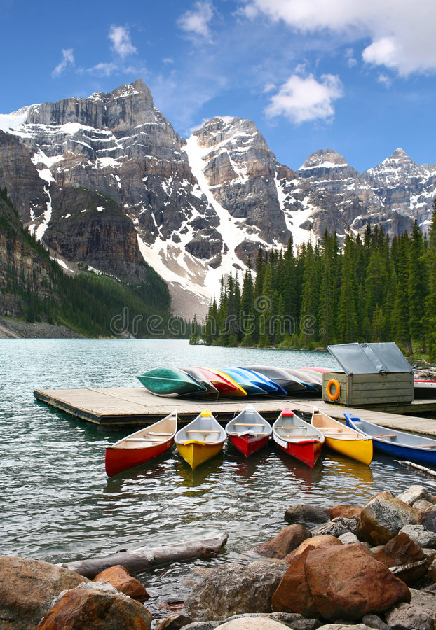 banff Canada moreny jeziorny park narodowy fotografia stock