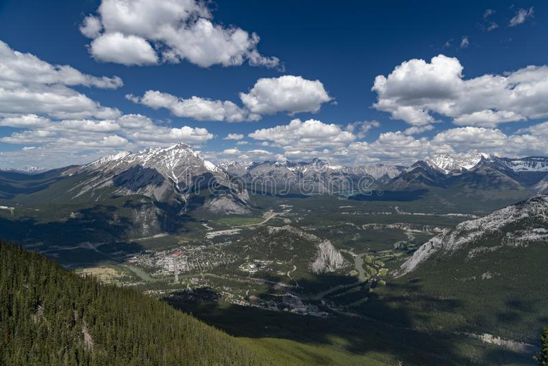 Banff di trascuratezza nel Canada fotografia stock libera da diritti