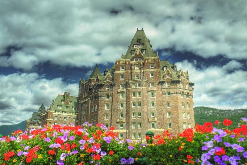 Banff entspringt Hotel lizenzfreies stockbild