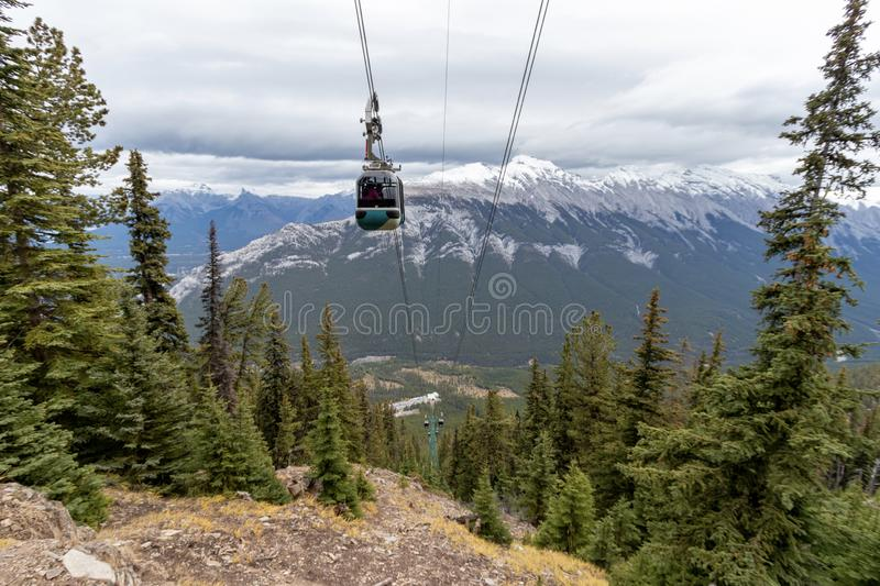 Banff Gondola, Banff National Park, Travel Alberta, Canada. With breathtaking vistas in every direction, you`ll understand why the Banff Gondola is a Canadian royalty free stock photography